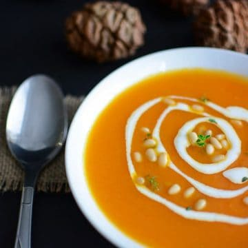 Creamed carrot soup