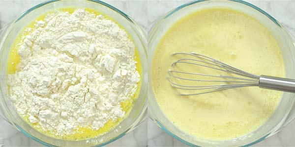 making batter for sweet crepes