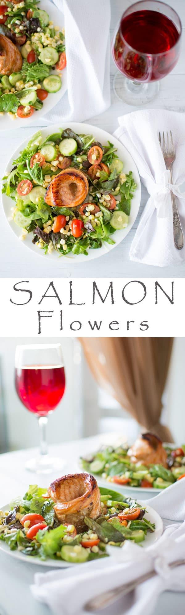 salmon flowers