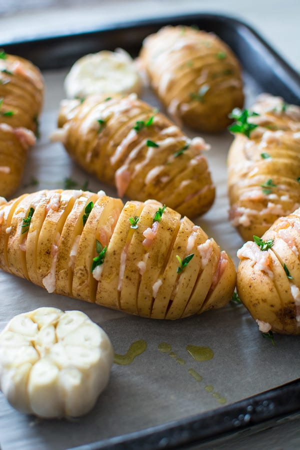 how to make sliced baked potatoes