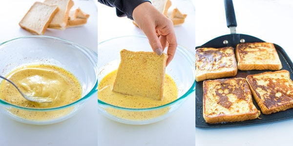 Yummy Eggnog French Toast recipe.Perfect breakfast for a cold, snowy morning. ❤ COOKTORIA.COM
