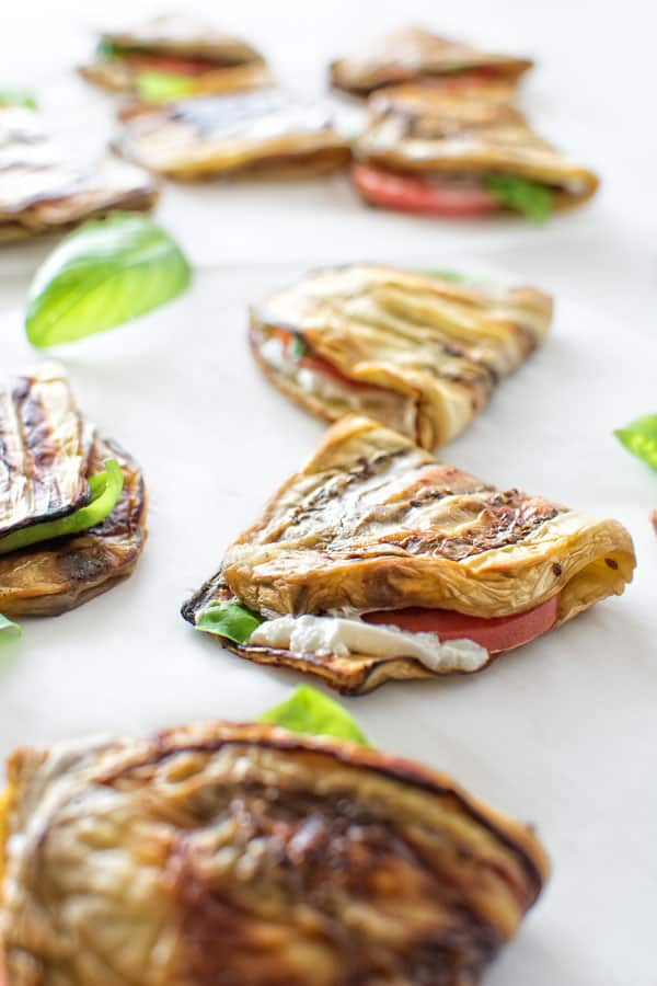 Tender baked eggplant stuffed with creamy goat cheese, juicy tomato and basil. ❤ COOKTORIA.COM