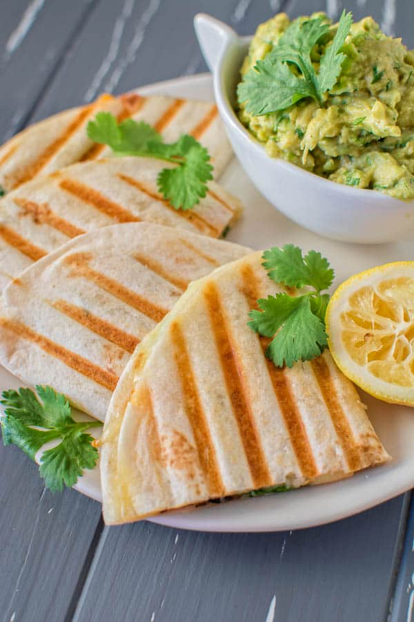 This 15-minute vegetarian Mediterranean Quesadilla filled with mushrooms, olives and bell peppers can serve as a quick lunch or a light dinner. Serve it with guacamole or a fresh salad.