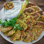 I make these healthy Zucchini Feta Fritters almost single week! They are so delicious and tender, and they pair so well with Tzatziki sauce! ❤ COOKTORIA.COM