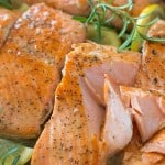 Flaky salmon cooked to perfection in rich Lemon Rosemary sauce. Ready in 15 minutes! ❤ COOKTORIA.COM