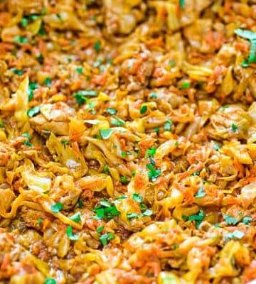 This succulent Cabbage and Chicken is hearty, filling, and so delicious. Just a few ingredients and about 15 minutes of active time make up this delicious dinner. This is my #1 Best Recipe yet!