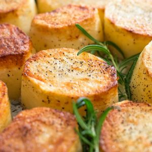 Crispy on the outside, tender and creamy on the inside, cooked with butter and a hint of garlic, these Rosemary Fondant Potatoes make simple yet elegant side dishes! ❤ COOKTORIA.COM