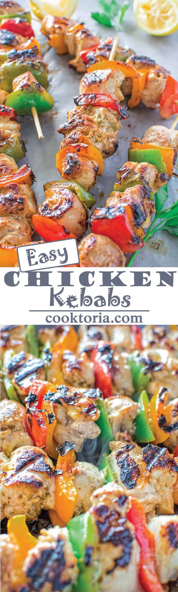 Very tender and so flavorful, these Easy Chicken Kebabs are MUST TRY this  summer!
