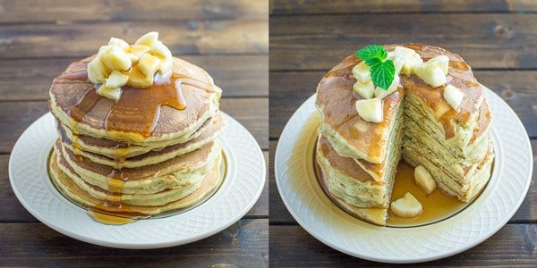 Healthy banana pancakes cooktoria these healthy banana pancakes are so easy to make and so fluffy and tasty and ccuart Choice Image