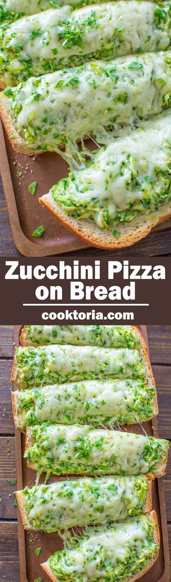 This Zucchini Pizza on Bread is unbelievably simple and very tasty! It takes only 30 minutes to make! ❤ COOKTORIA.COM