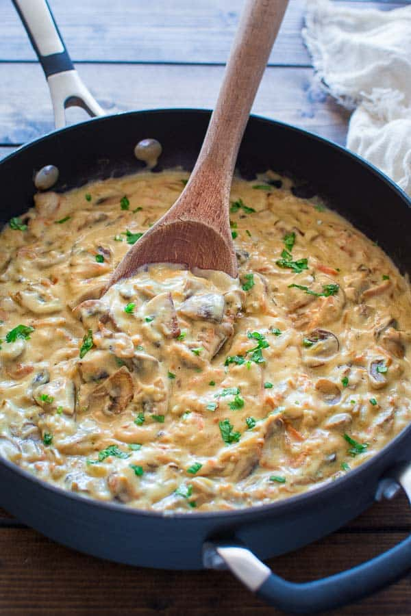 This Easy Mushroom Sauce has been in my family for generations. It's so simple, yet very flavorful. It tastes great on steak, fish, veggie, and of course, mashed potatoes! ❤ COOKTORIA.COM