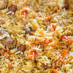 This is a classic recipe for a loved-by-everyone Uzbek Plov, also called Pilaf. My simple photo instructions will help you cook it to perfection.