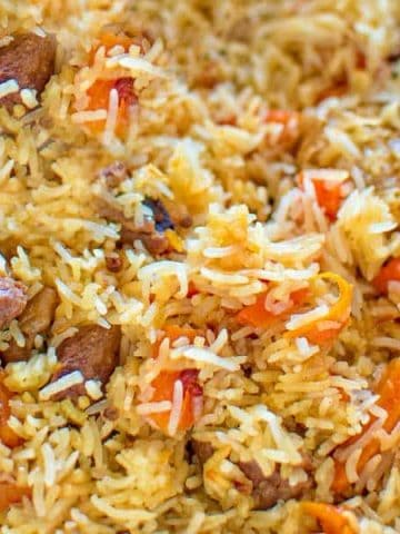 This is a classic recipe for a loved-by-everyone Uzbek Plov, also called Pilaf.My simple photo instructions will help you cook it to perfection.