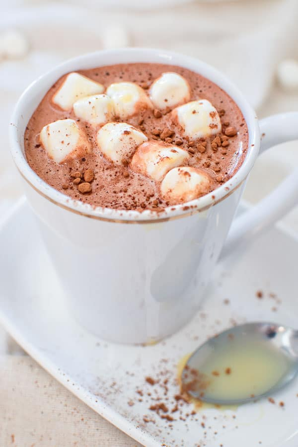 This creamy and comforting Hot Chocolate with Condensed Milk will keep you warm and cozy during the cold season. ❤ COOKTORIA.COM