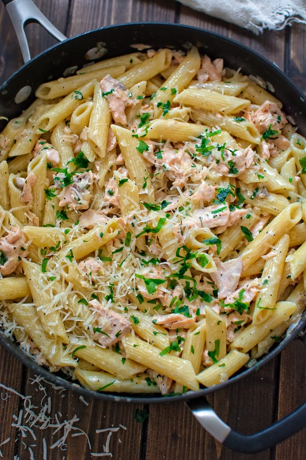 This simple and elegant Creamy Salmon Pasta makes a quick and filling dinner that your family will love! This simple and elegant Creamy Salmon Penne makes a quick and filling dinner that your family will love! ❤ COOKTORIA.COM