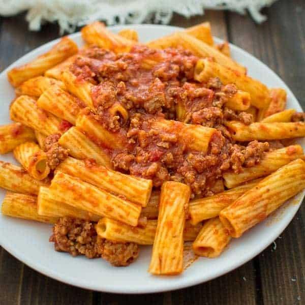 easy rigatoni bolognese cooktoria