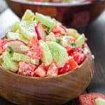 This refreshing and healthy Summer Salad with Feta makes a quick summer lunch that the whole family will enjoy. ❤ COOKTORIA.COM