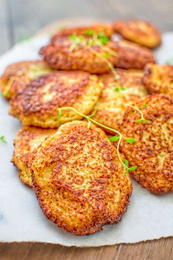 Basic Cauliflower Fritters - COOKTORIA