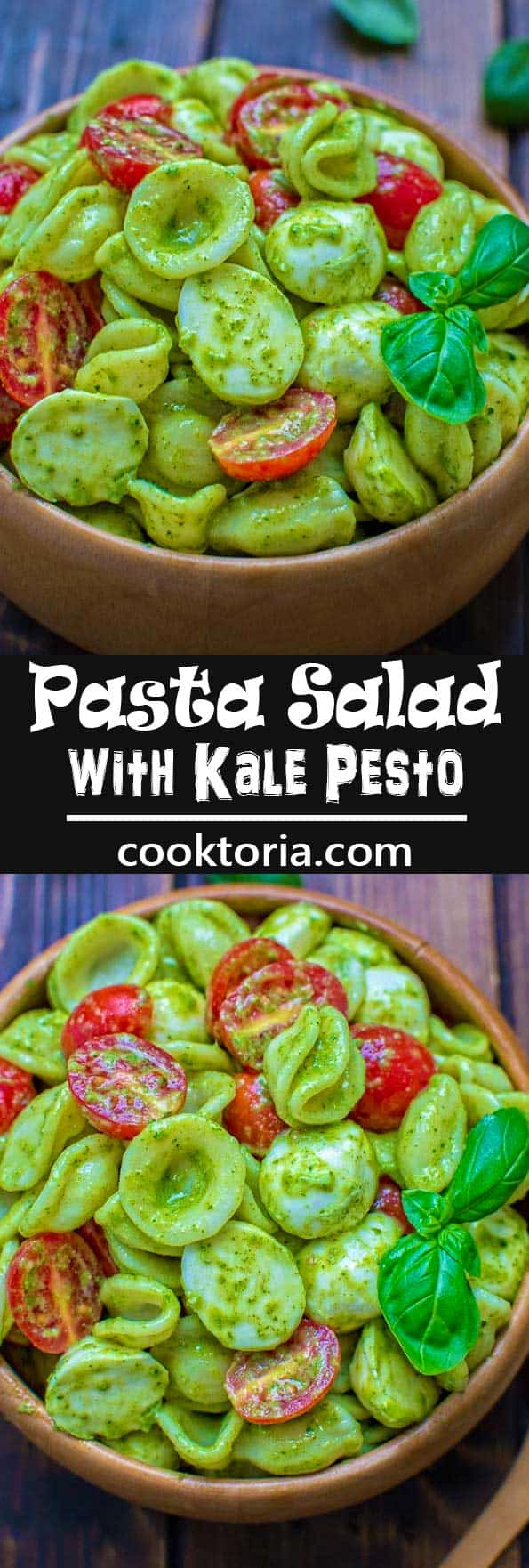 This filling and delicious Pasta Salad with Kale Pesto is truly one of the best pasta salads. So refreshing and addictive, you'll keep making it all summer long! ❤ COOKTORIA.COM