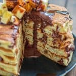 These fluffy and delicious Chocolate Banana Pancakes are healthy and easy to make. Sweetened with bananas and dark chocolate, you won't be able to stop eating them. ❤ COOKTORIA.COM