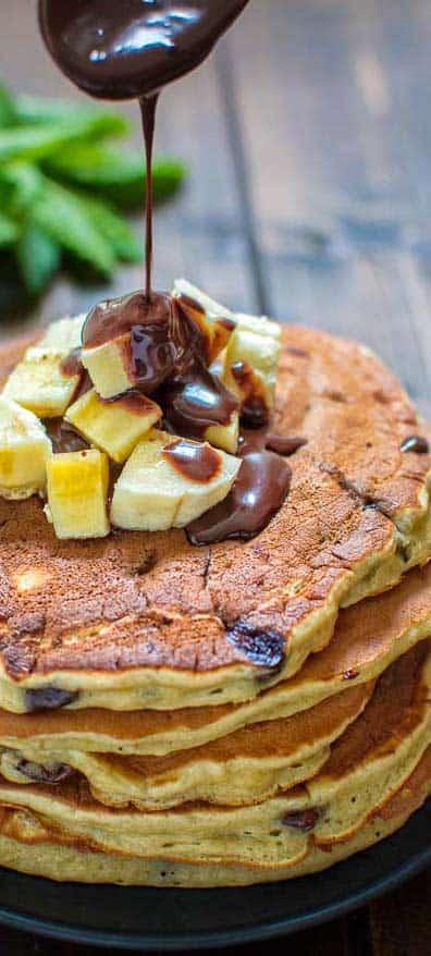Chocolate Banana Pancakes Cooktoria