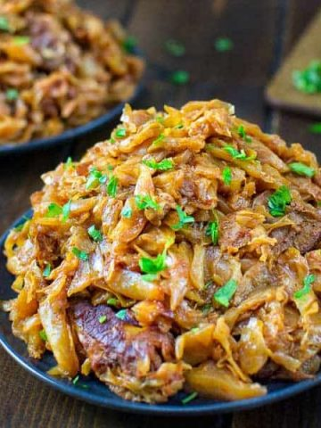 This mouthwatering Cabbage with Ribs recipe is a life changer! Delicious cabbage stewed, and then baked to perfection with tender and succulent ribs. ❤ COOKTORIA.COM