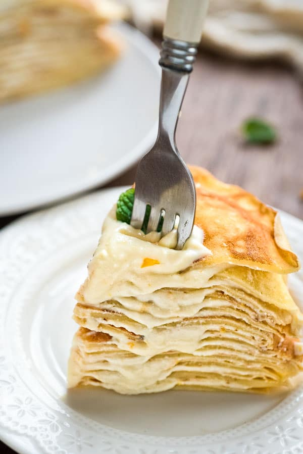 Layers of tender and deliciously delicate crepes with smooth, creamy ricotta filling make this Ricotta Crepe Cake a perfect breakfast or afternoon treat.   ❤ COOKTORIA.COM