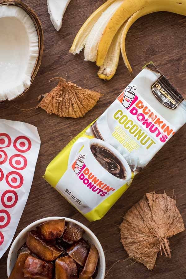 Rich and creamy, this Coconut Coffee Smoothie, full of coconut-chocolate flavor, is a HEALTHY and DELICIOUS way to start your day!