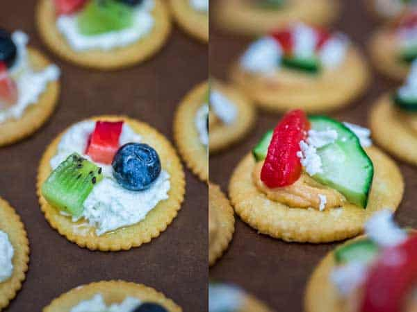 These quick and tasty RITZ Cracker Appetizers Two Ways are sure to be a crowd pleaser at your next dinner or friend gathering! These two sweet & savory recipes are packed with flavor and crunchiness. Plus, I'll share a cute plating hack with you!
