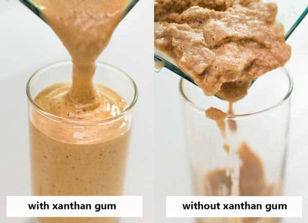 making caramel frappuccino without xanthan gum