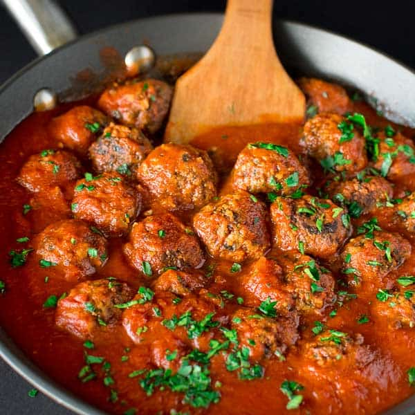 These soft and moist Mushroom Meatballs are simple to prepare and make a perfect vegetarian dinner!
