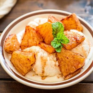 Try this simple, yet scrumptious Cinnamon Fried Pineapple. It requires just a few common ingredients and only 10 minutes of your time.