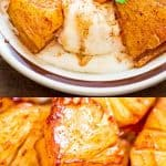 Try this simple, yet scrumptious Cinnamon Fried Pineapple. It requires just a few common ingredients and only 10 minutes of your time.#pineapple #icecream #dessert #fried