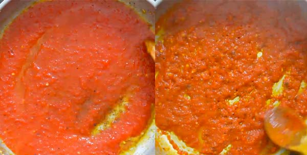 cooking red sauce