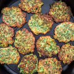 These light, golden-brown Broccoli Fritters make a delicious vegetarian dinner or lunch — and kids love them too! Ready is less than 30 minutes. ❤ COOKTORIA.COM