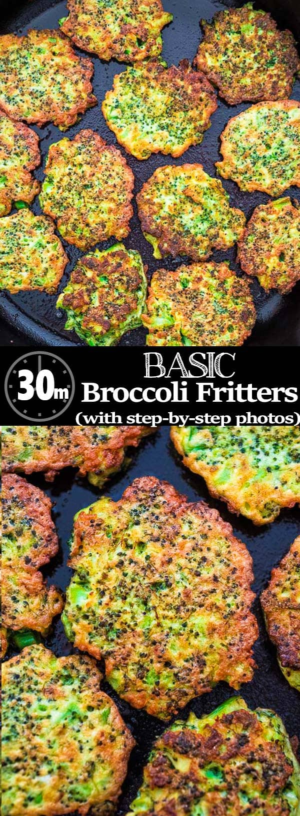 These light, golden-brown Broccoli Frittersmake a delicious vegetarian dinner or lunch — and kids love them, too! Ready in less than 30 minutes.❤ COOKTORIA.COM