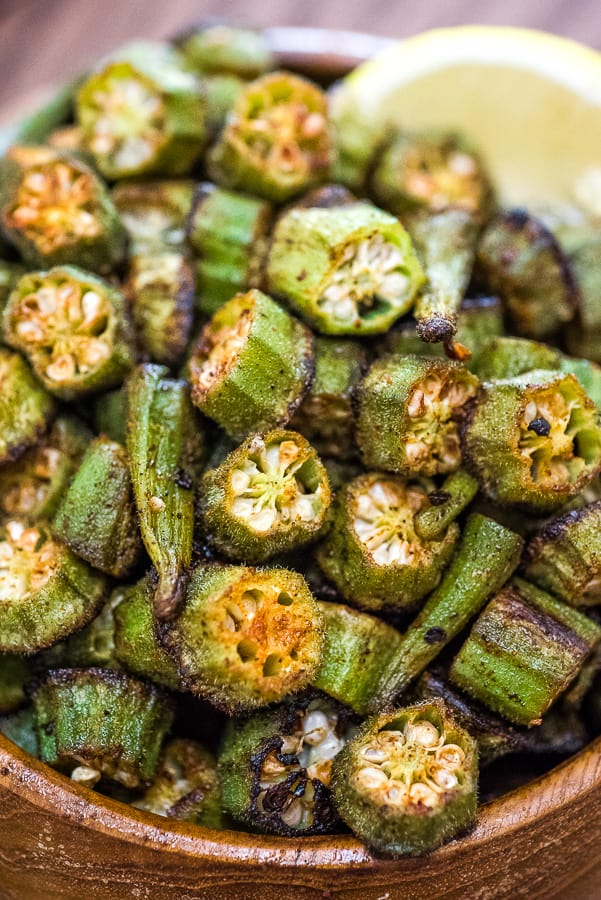 This is a simple, flavorful, and easy Baked Okra recipe. Seasoned with paprika, salt, and a pinch of cayenne, this okra makes a great snack or side dish.  ❤ COOKTORIA.COM