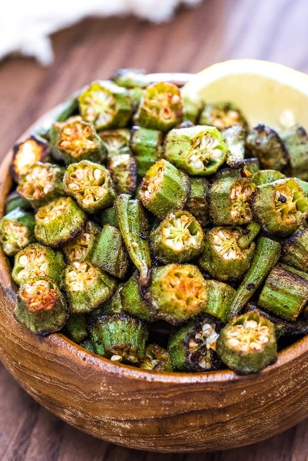 Easy Baked Okra Cooktoria