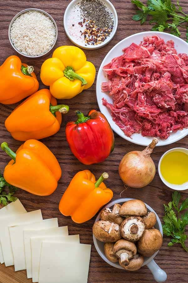 Philly Cheesesteak Stuffed Peppers Ingredient List