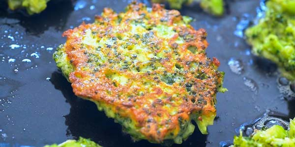 frying broccoli fritters
