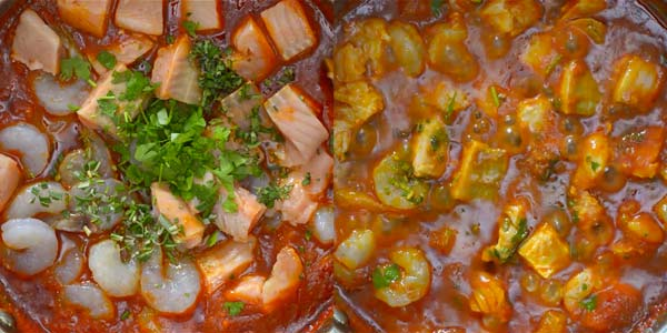 adding seafood to Italian Fish Stew