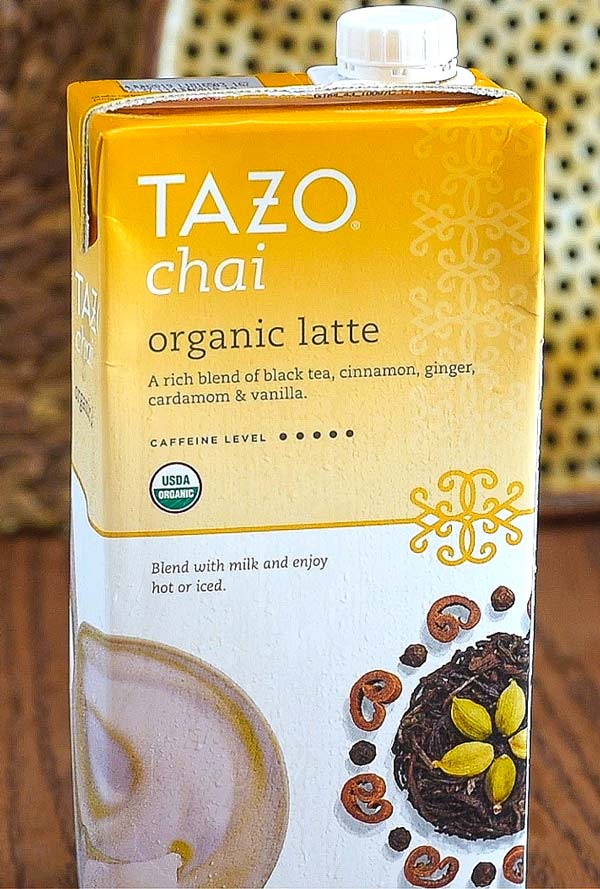 Tazo Chai Latte Concentrate Black Tea is a blend of black tea, cinnamon, cardamom, black pepper & spices. Made with pure black tea, the spiced chai tea contains less caffeine than coffee. Tazo chai latte is a liquid concentrate, so for rich flavor, add your favorite milk to the chai mix tea on a 1 to 1 ratio/5(79).