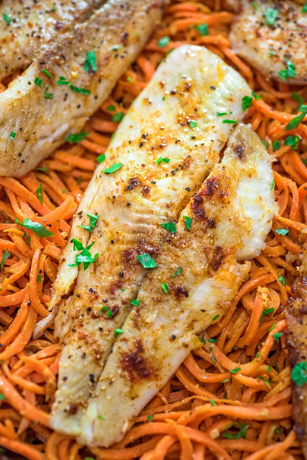 This tasty, pan-seared Flounder with Carrot Noodles is a simple and filling meal. It makes a perfect lunch or dinner, and you won't believe how delicious these carrot noodles are!