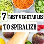 Spiralizing is the best way to add more vegetables to your diet. If you haven't tried it yet, use my guide to find a perfect spiralizer and discover the 7 Best Vegetables to Spiralize.