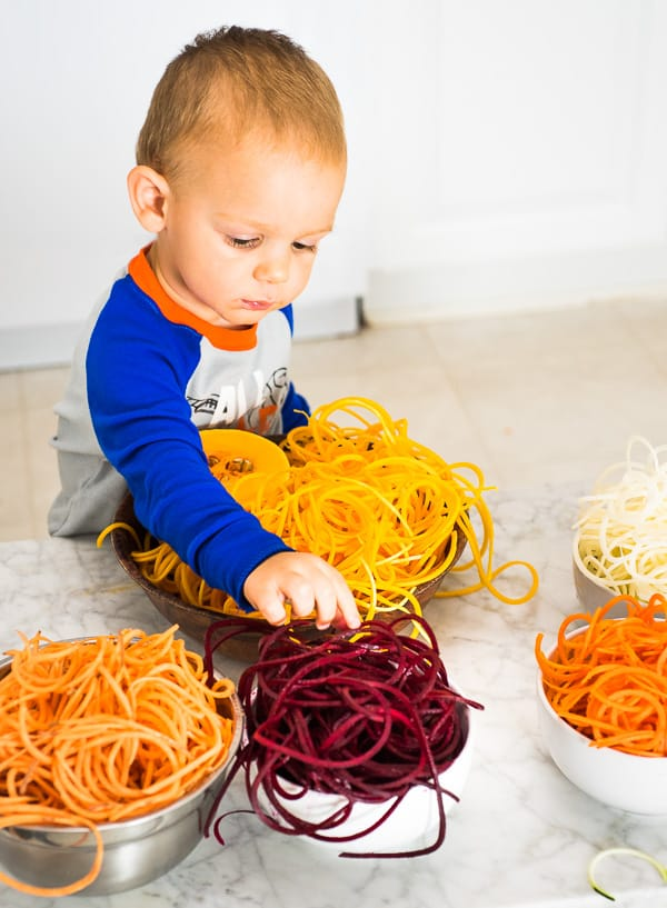 Spiralizing vegetables