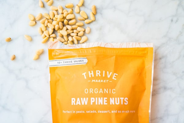 raw pine nuts