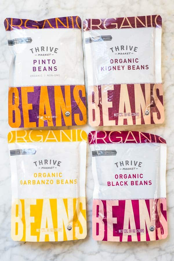 Chickpeas, Kidney Beans, Black Beans, Pinto Beans