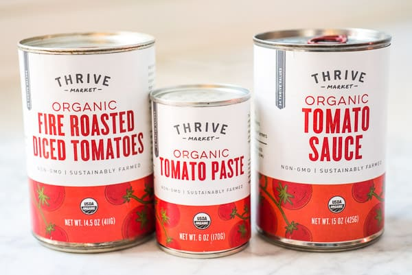 tomato sauce from thrive market