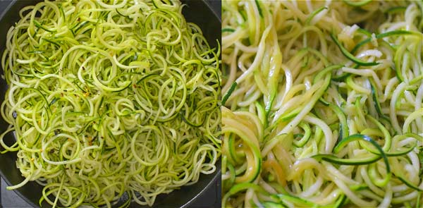 cooking zoodles
