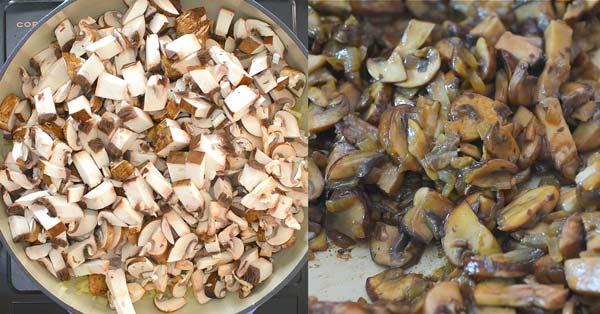 cooking mushrooms until soft